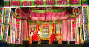 Opéra chinois dans le festival annuel au Thaïlande-tombeau Images libres de droits