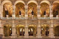 Opéra d'état de Vienne la nuit photos libres de droits