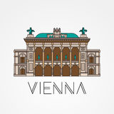 Opéra d'état de Vienne - le symbole de l'Autriche illustration de vecteur