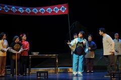 Opéra de Jiangxi de coup sec et dur de campagne une balance Image libre de droits
