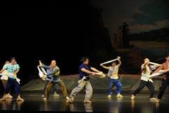 Opéra de Jiangxi de danse de mouchoir une balance Photos libres de droits