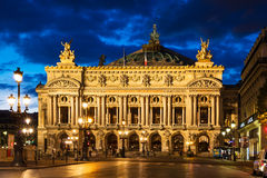 Opéra De national Paris - grand opéra (opéra Garnier) la nuit, Photo stock