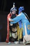 Opéra de Pékin célèbre : le shiro rend visite à sa mère photos libres de droits