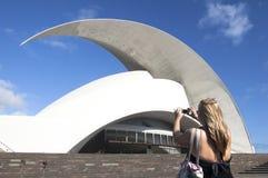 Opéra de salle de Tenerife images libres de droits