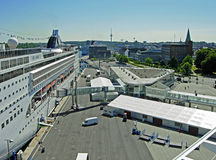 Opéra du bateau de croisière MSC sur le terminal de croisière à Kiel Photo stock