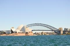 Opéra et pont de port, Sydney Photo libre de droits