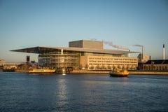 Opéra House Port de Copenhague denmark images libres de droits