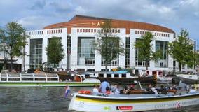 Opéra national néerlandais, Amsterdam, Pays-Bas banque de vidéos