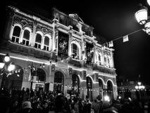 Opéra noir et blanc images stock