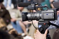 Opérateur avec l'appareil-photo Photo stock