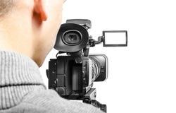 Opérateur de caméra vidéo Photo libre de droits