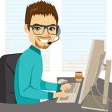 Opérateur de centre d'appels d'aide illustration libre de droits