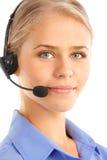 Opérateur de centre d'attention téléphonique photos libres de droits