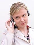 Opérateur de centre d'attention téléphonique Photos stock