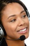 Opérateur de centre d'attention téléphonique images libres de droits