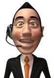 Opérateur de centre d'attention téléphonique illustration de vecteur