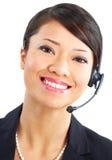 opérateur de centre d'attention téléphonique Image stock