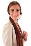 Opérateur de centre d'attention téléphonique support à la clientèle Helpdesk Images libres de droits