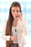 Opérateur de centre d'attention téléphonique support à la clientèle Helpdesk Photo stock