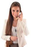 Opérateur de centre d'attention téléphonique support à la clientèle Helpdesk Photos stock