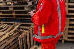 Opérateur de secours dans l'action photographie stock libre de droits