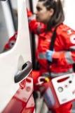 Opérateur de secours dans l'action Image libre de droits