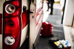Opérateur de secours dans l'action Photo stock