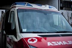 Opérateur de secours dans l'action Photographie stock