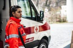 Opérateur de secours dans l'action Images stock