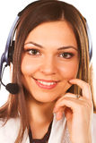 Opérateur de secrétaire/téléphone image stock
