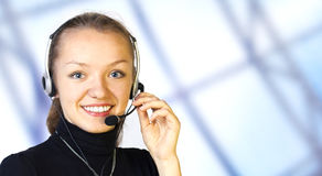 Opérateur de service à la clientèle Photos stock