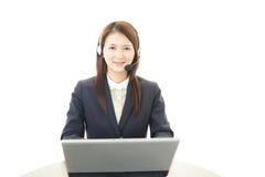 Opérateur de services client Image libre de droits