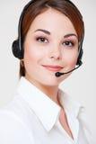 Opérateur de téléphone amical Images stock