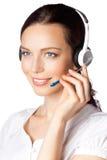 Opérateur de téléphone de support image libre de droits
