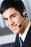 Opérateur de téléphone de support images libres de droits