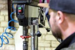 Opérateur expérimenté Professionnel métallurgique de concept d'industrie Image libre de droits