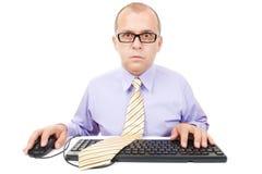 Opérateur sur ordinateur Photographie stock libre de droits