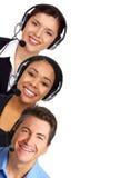 Opérateurs de centre d'attention téléphonique Image stock