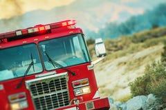 Opération de sauvetage de camion de pompiers Images stock