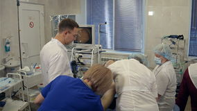 Opération endoscopique dans l'hôpital