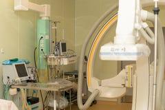 Opération pour des études angiographiques Photographie stock libre de droits