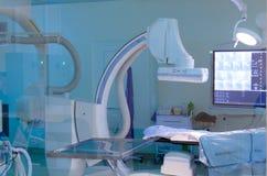 Opération pour des études angiographiques Images stock
