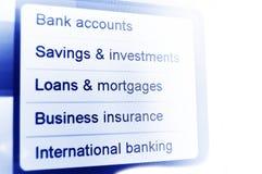 Opérations bancaires Images libres de droits