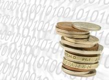 Opérations bancaires BRITANNIQUES d'Internet illustration libre de droits