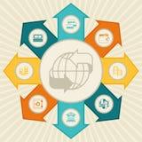 Opérations bancaires conceptuelles et affaires infographic illustration de vecteur