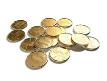 Opérations bancaires de finances de pièces de monnaie Image stock