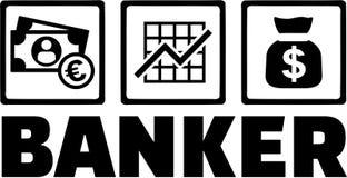 Opérations bancaires de Money de banquier illustration libre de droits