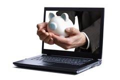 Opérations bancaires en ligne Photographie stock libre de droits