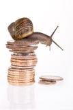 Opérations bancaires lentes Photo stock
