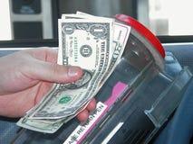 Opérations bancaires : Pilotez vers le haut de la machine de côté Images stock